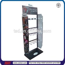 TSD-M041 Custom gloves shop floor standing spray paint metal display rack,retail store furniture,hanging pop displays