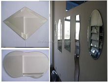 China manufacturer Vicshine 2mm,3mm,4mm,5mm,6mm safety silver mirror/Vinyl Backed Safety Silver Mirror Frameless Glass Mirror