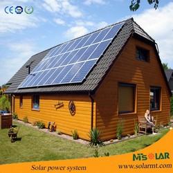 High efficiency new design solar power system use yingli solar panel