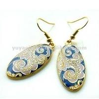 Unique design cloisonne earring,Fashion earring for women,2013 hot ladies jewelry