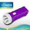 LONEN 2015 high power LED plastic rechargeable flashlight