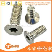 fastener high strength flat head countersunk bolt 8.8