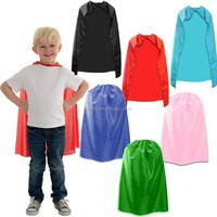"Boys Girls Deluxe Satin Superhero Cape 32"" Fancy Dress Party Childrens Book Week Superman Cloak CCP2037"