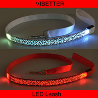 PLTR-10 leopard print led dog leash Beatiful LED dog leashes, pet products, dog collar