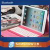 Folio best logitech 9.7 inch leather case bluetooth keyboard for iPad 2/3/4