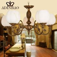 Lustre bronze chandelier glass lighting 8007-5