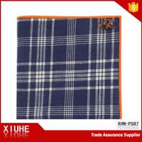 High Quality Leisure Cheap Cotton Plaid Handkerchief for Men