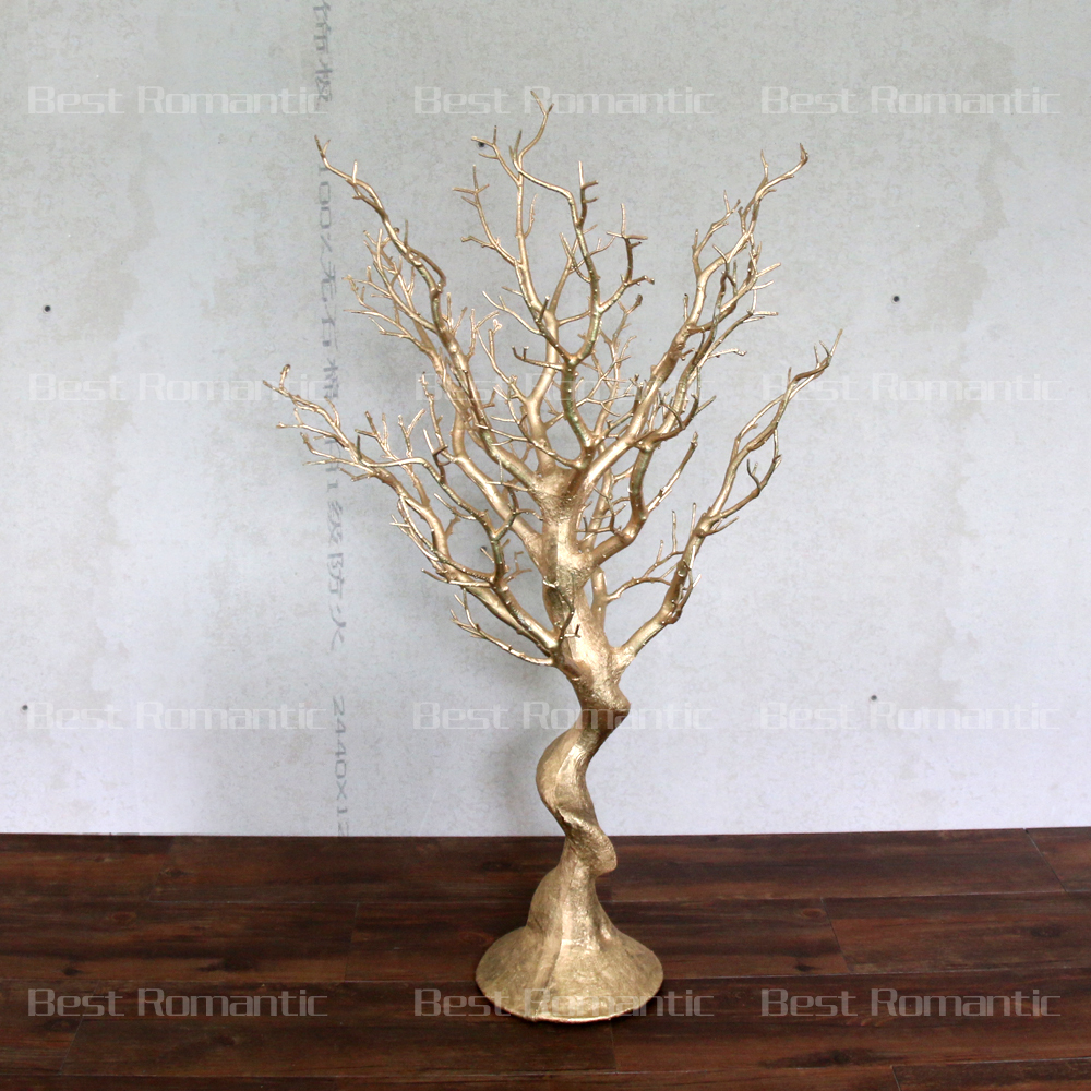 Gold Plastic Tree Centerpiece For Decoration,Beautiful Natural ...