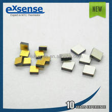 square gold plated ntc bare chip, chip length or wide 0.7~1.3mm