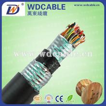 Subterráneo llenado jalea Cable telefónico Multipair Cat3 2 25 50 100 par teléfono Cable