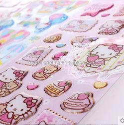 2015 wholesale custom puffy sticker/ DIY Various Carton 3d Puffy Sticker
