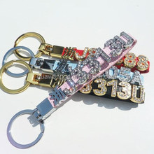 Popular cheap Chinese/English letter charm for key chain keyring