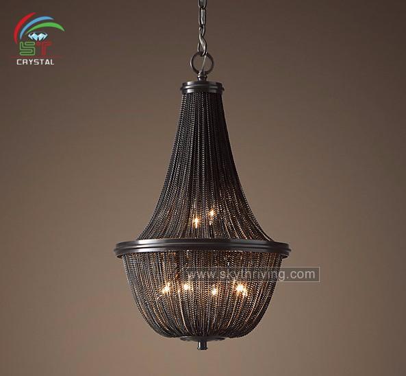 decorative black chain chandelier