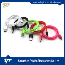 Colorful micro usb charging date cable for android smartphone samsung