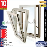 Thermal break Tilt open window with powder coated with triple glass for energy saving