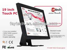 19 inch German High quality wall mount touch screen all-in-one computer