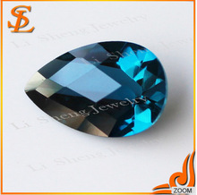 factory price pear heat-resisting 106# blue spinel gems