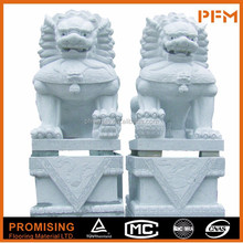 Cheapest well polished wholesale hand carved Natural marble granite stone foo dog statue sculpture