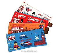 pencil case neoprene pencil boxes, two zipper, large capacity stationery case bag and pencil pouch
