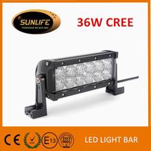"Hot selling high quality led light bar 36W 7.3 "" led offroad dual row light bar"