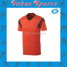 red soccer jersey with sublimation and free sample from guangzhou