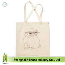 Eco-friendly Standard Size Plain Cotton Tote Bags Organic Cotton Durable Grocery Tote Bags