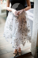 Alibaba supply Low price Pretty and colorful Front Short Back Long Skirt Chiffon Skirt