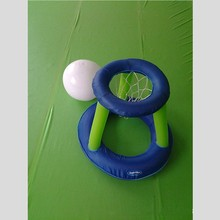 plastic infltable mini pool float basketball hoop