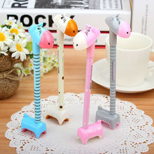 Japan and South Korea Stationery Han Edition Fancy Pen Body Lovely Giraffe Ball-point Pen for Student Cartoon Animal Pens NN-205