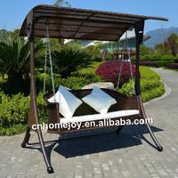 Leisure outdoor rattan swing chair , garden wick swing