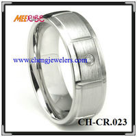Fashion Jewelry MEN'S Wedding Band Ring hot cobalt diamond ring Grooved Cobalt Ring