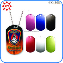 Cheap anodized dog tag with print logo