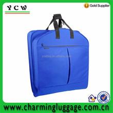 fashion color blue foldable mens suit garment bags