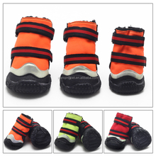 High Quality Waterproof Large Dog Boots Oxford Cloth Rubber boots with reflective bar