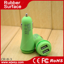 Intelligent 6.6A / 33W Premium Aluminum 3 USB Car Charger With Smart Sharing IC for Each USB Port