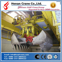 Double girder grab overhead crane