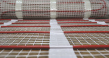 small and quickly bathroom floor heating mat