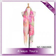 señora 2014 georgetta las mujeres bufanda playa flor de la moda de primavera bufanda
