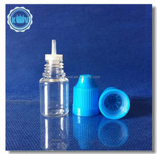 Empty 5ml plastic E liquid bottle can be with drop and cap,childproof cap