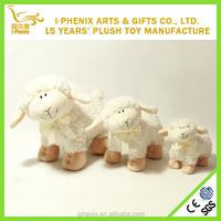 Organic cotton baby sheep toys nature lamb stuffed toys