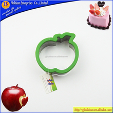 2015 apple shaped plastic and stainless steel cookie cutter