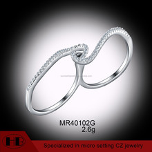 Fashionable Light Weight Sterling Silver CZ Finger Rings