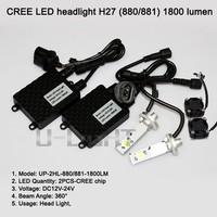 Newest LED headlight with CXA1512 chip H27 LED bulb