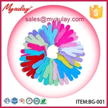 BG-001 Colorful Nylon bath exfoliating scrub gloves for new products wholesale