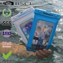 2015 hot sale cute pvc waterproof mobile phone pouch for iphone 4 bag