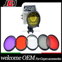 Hight Quality 52mm 58mm CPL UV Color Diving Filter Set Kit for Gopro Hero 4 3+ 3 Camera