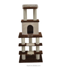 """Dspet 50"""" Stairway Cat Tree Scratching Post Condo Cat climbing frame - Brown and Beige Pet Products Cat toy"""