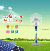 16'' long usage time rechargeable fan with LED light and SONCAP certificate MODEL:MD-401-1