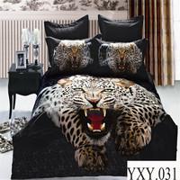 Luxury reactive flower printed home bedroom set 100% cotton bedding duvet cover set cheap king size 3d bedding