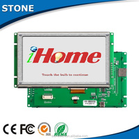 Capacitive 5.6 inch 65K screen lcd touch integrated with CPU/driver and supports with UART/ RS232/RS485/TTL port
